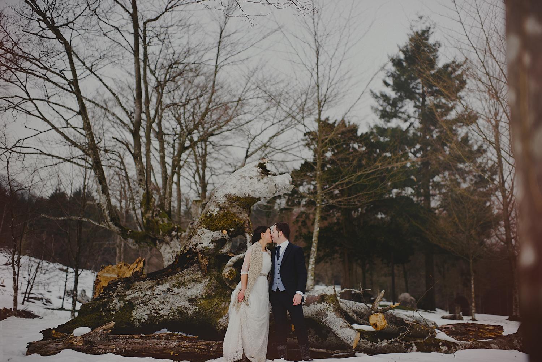 Una pareja de ideas claras – Boda en la nieve