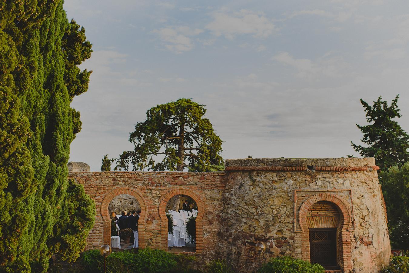 Boda en el castillo de santa catalina, málaga