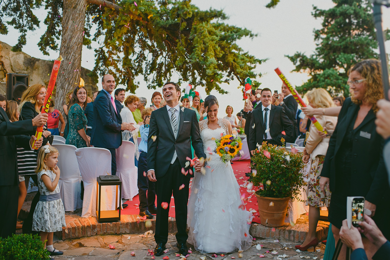 Destination wedding in Santa Catalina Castle