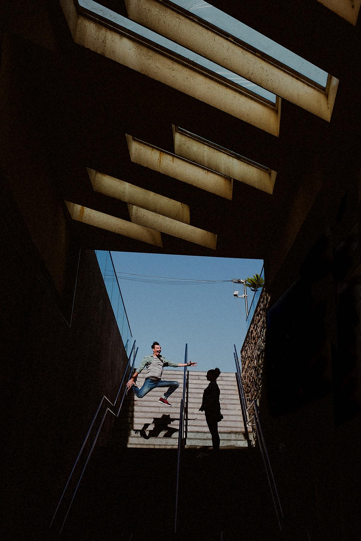 Pareja bailando en Donostia San Sebastian